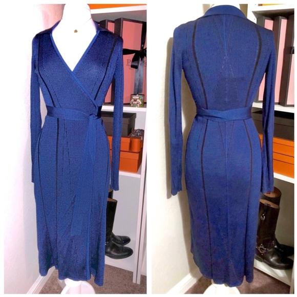 8dfd3b41a1f55 Diane Von Furstenberg Dresses   Dvf Sweater Knit Wrap Dress French ...